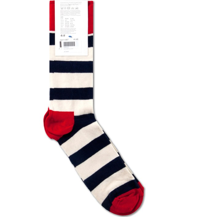 Navy/White Strips Socks
