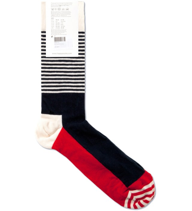 Blue/White Stripe Half Socks