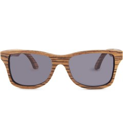 Shwood Canby Zebrawood Grey Lens Sunglasses Picture
