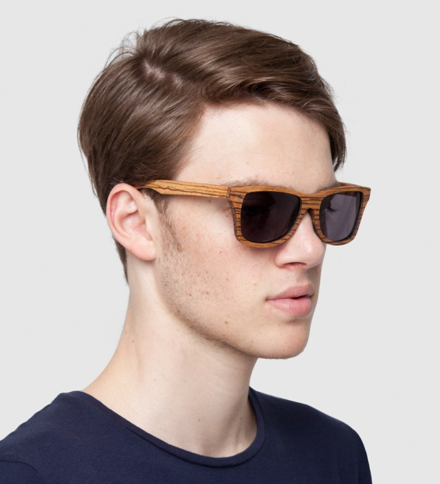 Canby Zebrawood Grey Lens Sunglasses