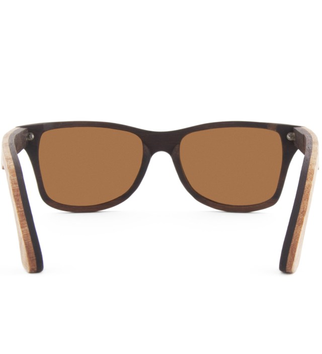Canby Select Quilted Maple and Rosewood Polarized Brown Sunglasses