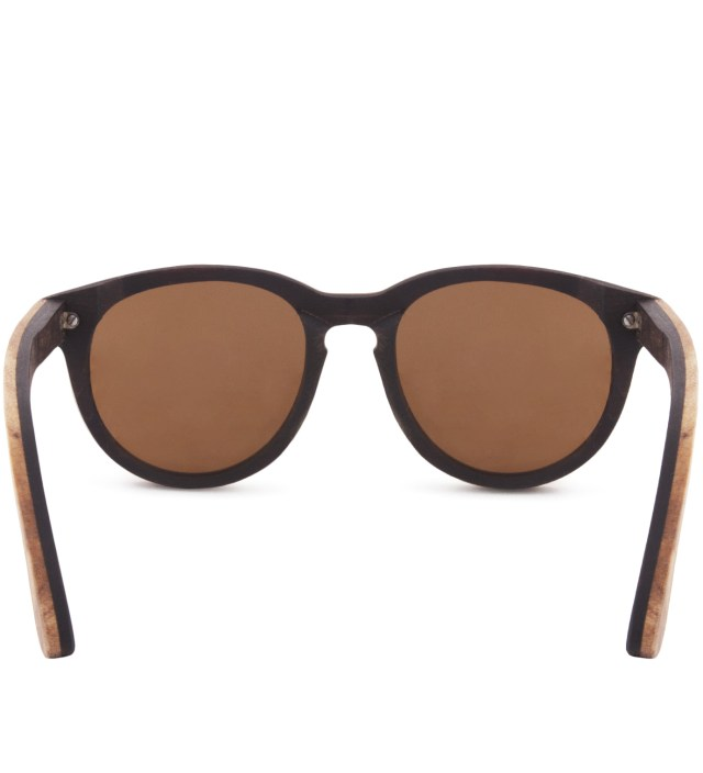 Oswald Select Quilted Maple and Rosewood Polarized Brown Sunglasses