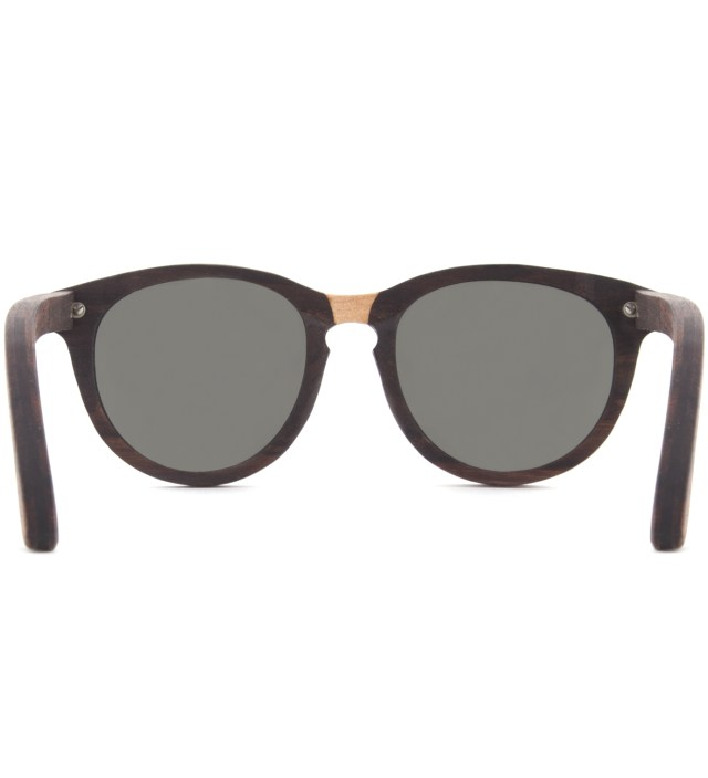 Oswald Select Rosewood and Quilted Maple Polarized Grey Sunglasses
