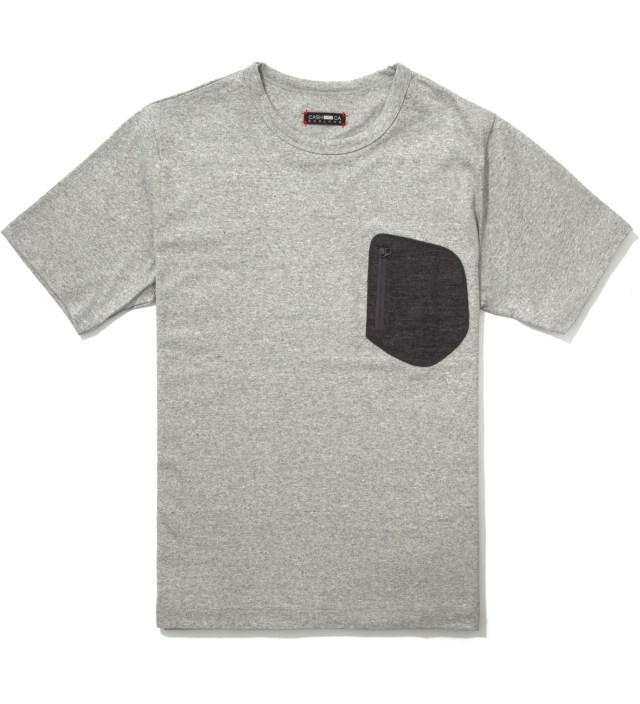 Grey Wool Pocket T-Shirt