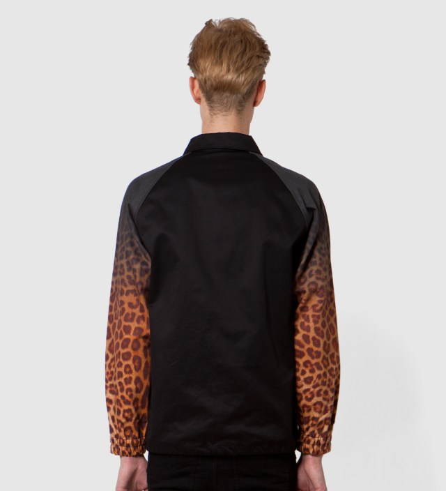 Black x Yellow Leopard Coach Jacket