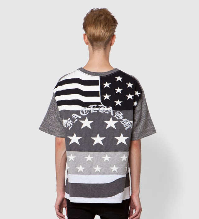 Charcoal x Monochrome Stars And Stripes Big T-Shirt