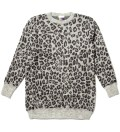 Grey Leopard Long Sweater