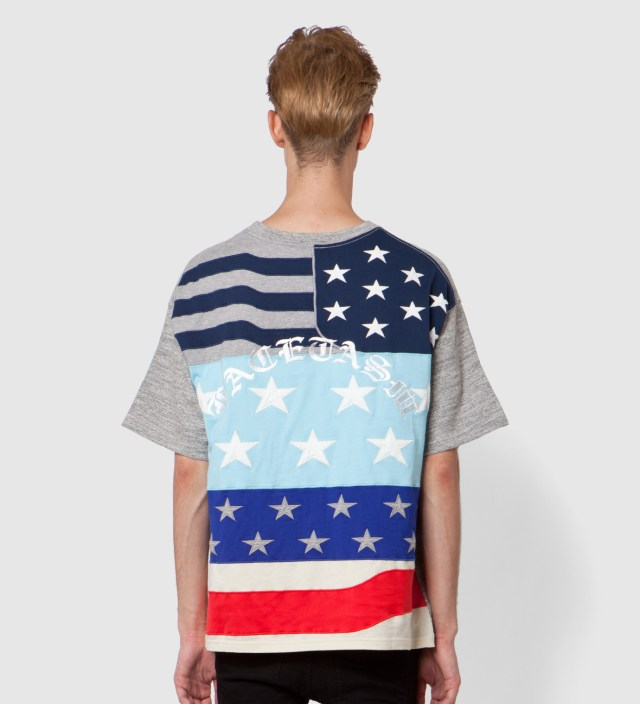 Grey x Color Stars And Stripes Big T-Shirt