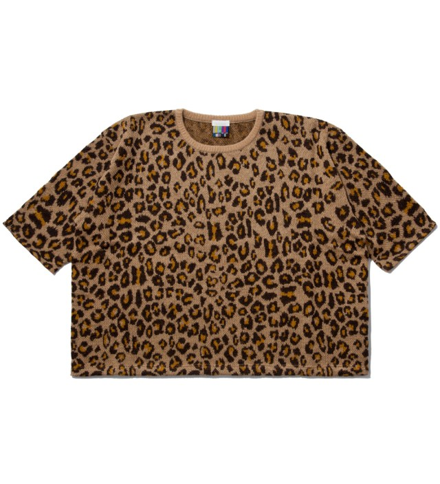 Yellow Leopard Big Knit T-Shirt