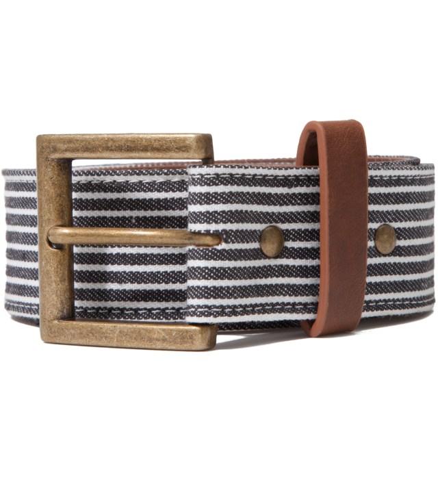 Navy Fine Stripe Belt