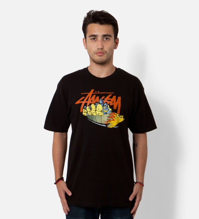 Pierre Bolide x Stussy Black Bobsled T-Shirt
