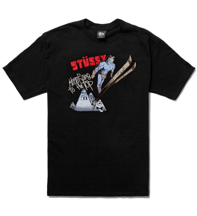 Pierre Bolide x Stussy Black Ski Jump T-Shirt