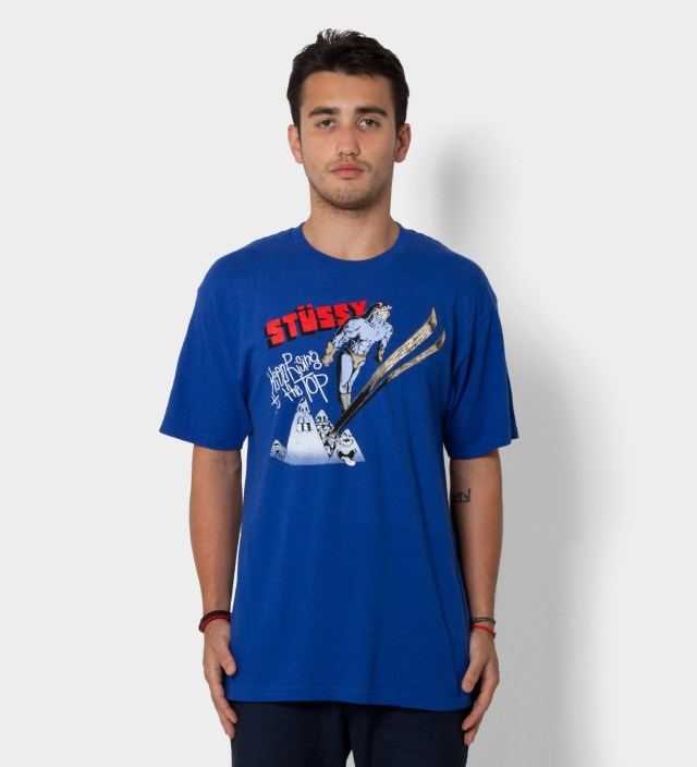 Pierre Bolide x Stussy Royal Blue Ski Jump T-Shirt