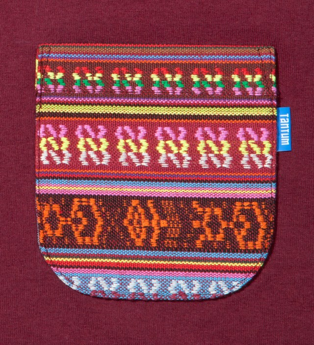 Burgundy South African Tribe Pocket T-Shirt