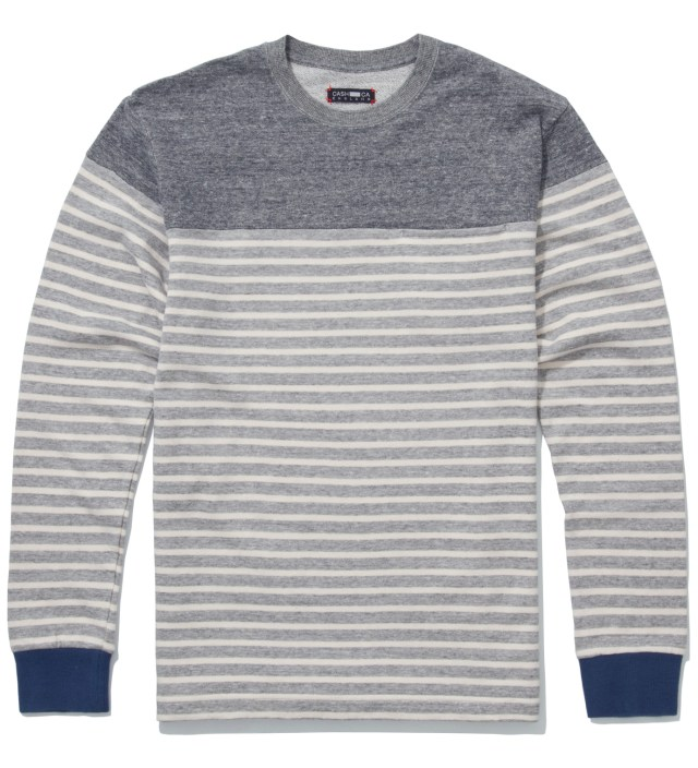 Grey Panel Border Sweater