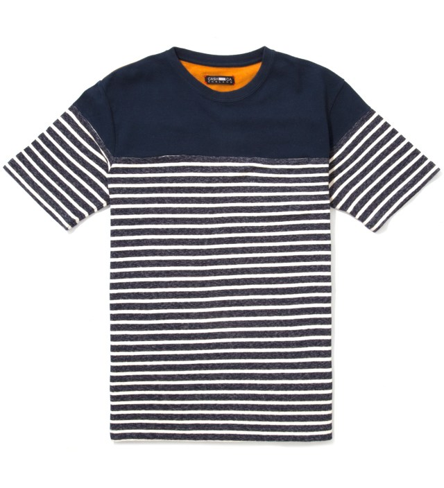 Navy Panel Border T-Shirt