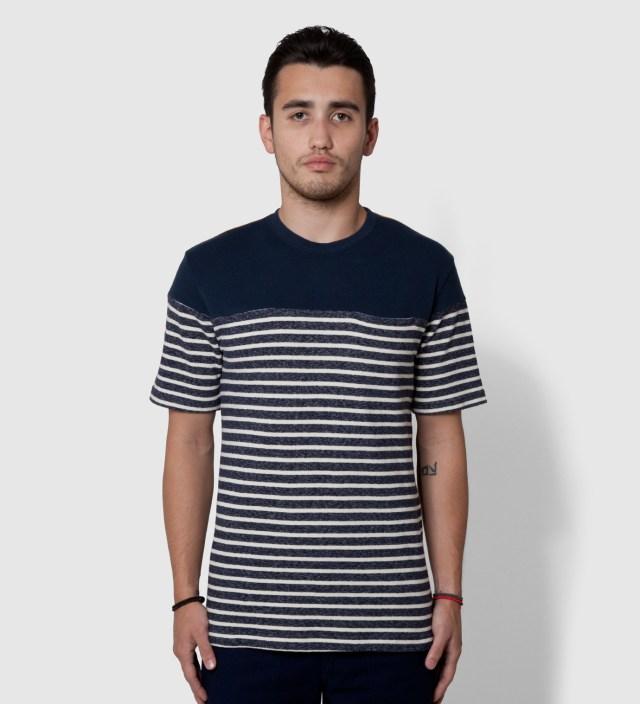Navy Panel Border T-Shirt