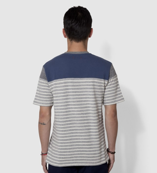 Grey Panel Border T-Shirt