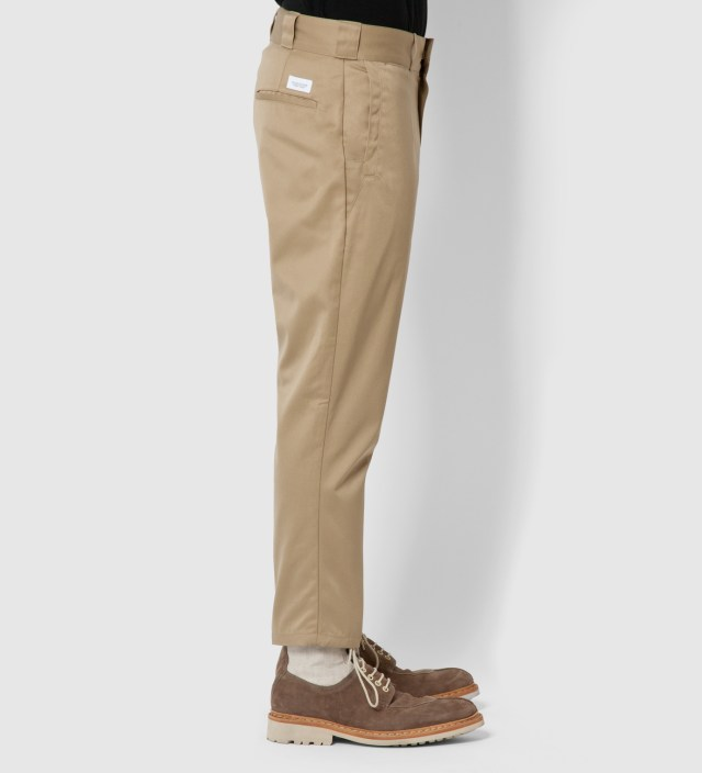 Beige Style Thunderbolt Trousers