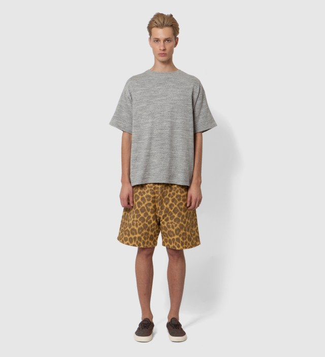 Yellow Leopard Blanket Shorts