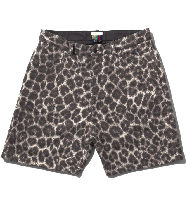 Grey Leopard Blanket Shorts