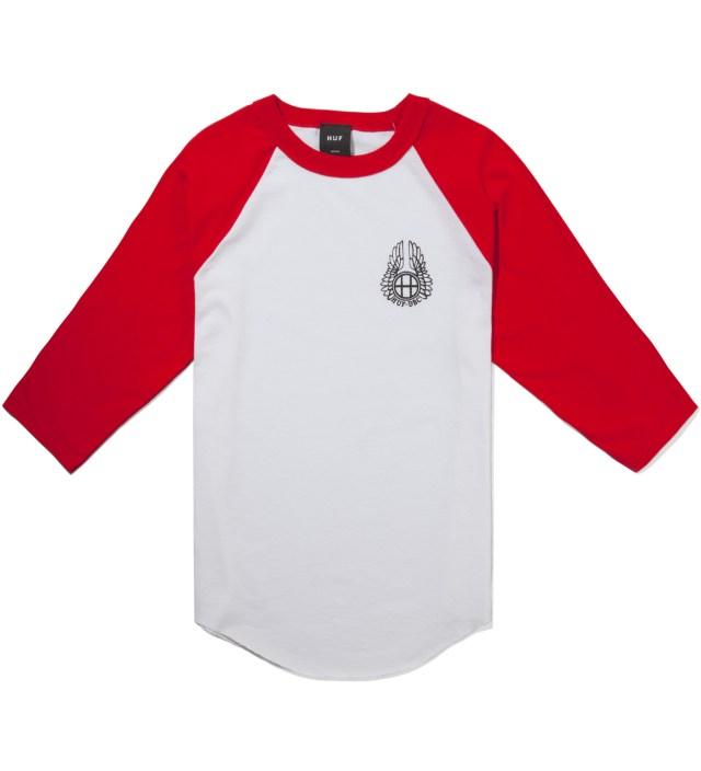 Red/White Striker Baseball Raglan