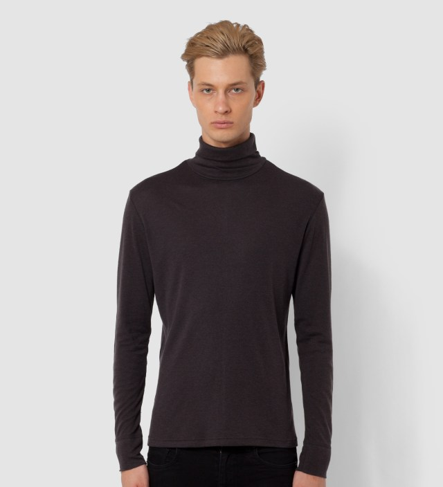 Brown Long Sleeved Roll Neck Base Layer