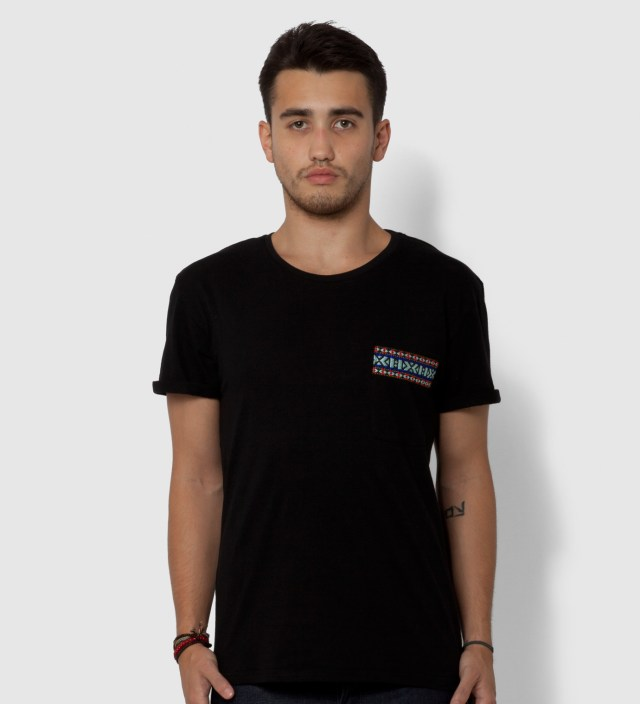 Black Yaka Pocket T-Shirt