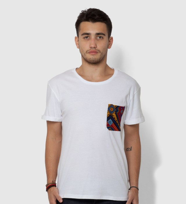 White Hadimu Pocket T-Shirt
