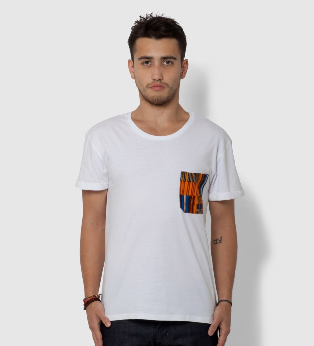 White Obamba Pocket T-Shirt