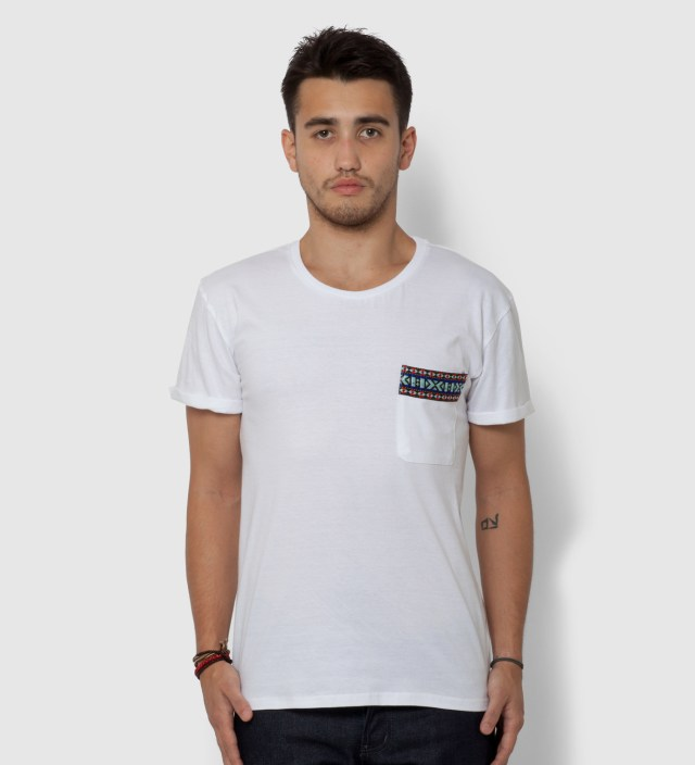 White Yaka Pocket T-Shirt