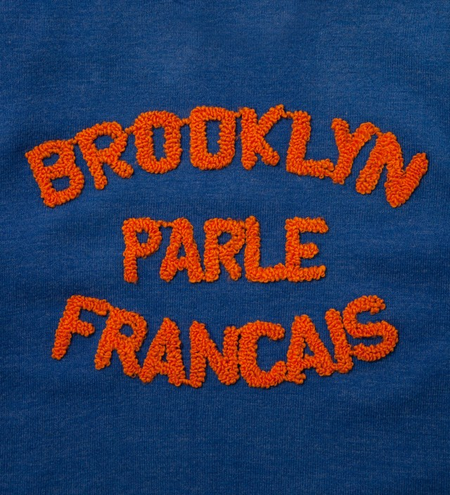 Blue & Orange Brooklyn Parle Francais Sweater