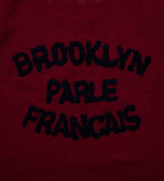 Burgundy & Navy Brooklyn Parle Francais Sweater