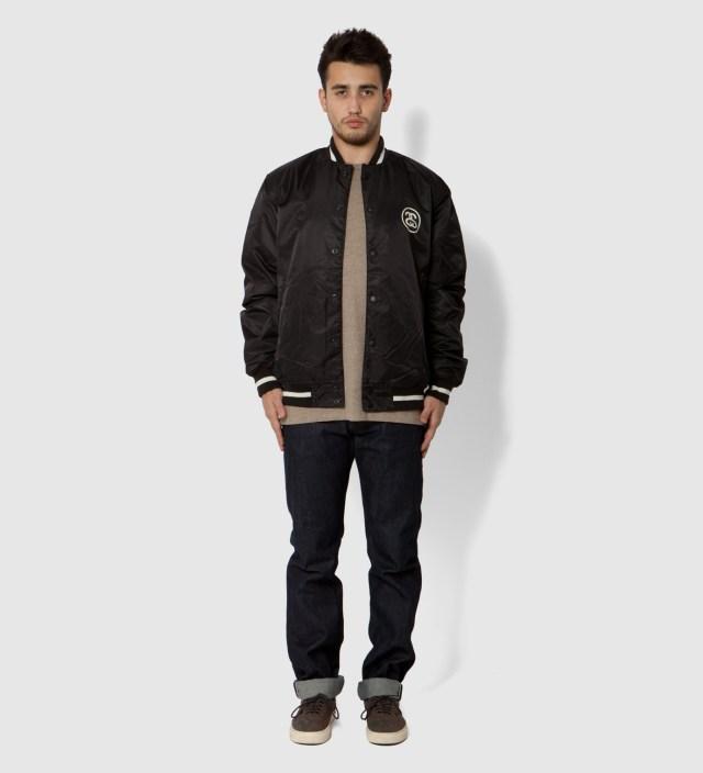 Black Varsity Coach Jacket