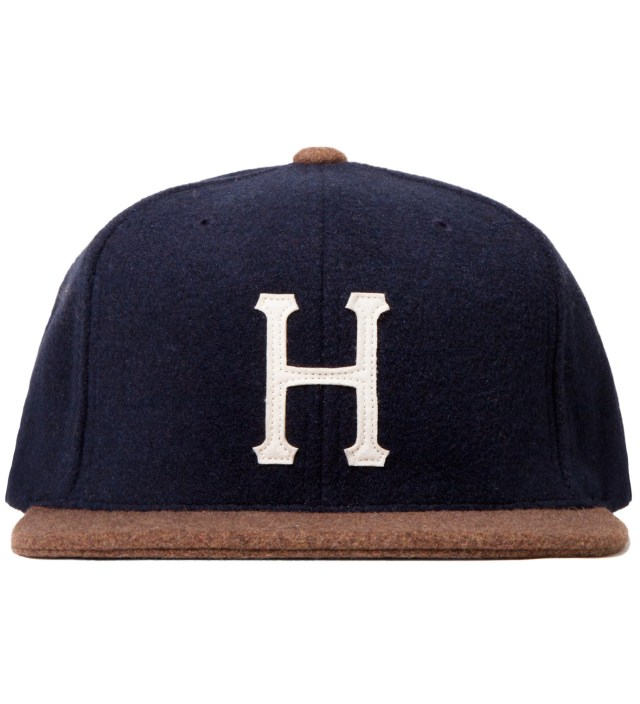 Navy/Brown Classic H Wool Starter Cap