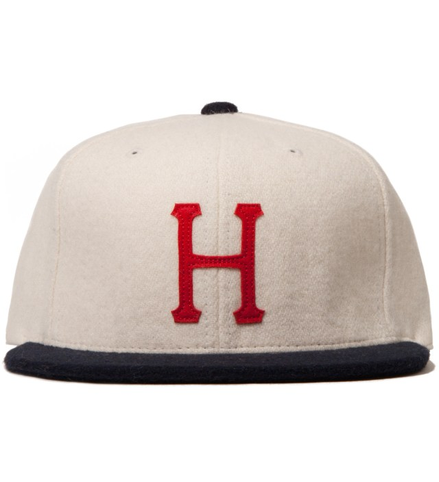 Natural/Navy Classic H Wool Starter Cap