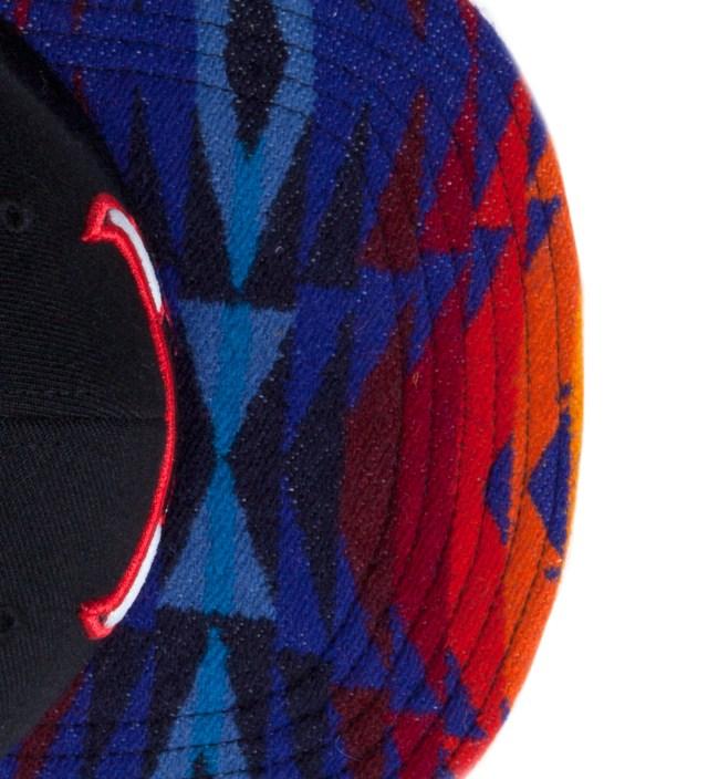 Chicago Bulls Blue Navajo Strap-Back Cap