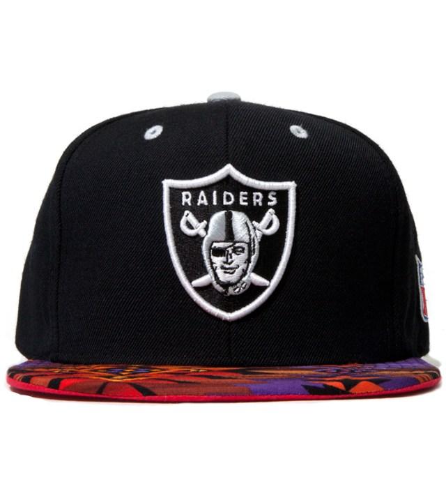 Oakland Raiders Purple Navajo Strap-Back Cap