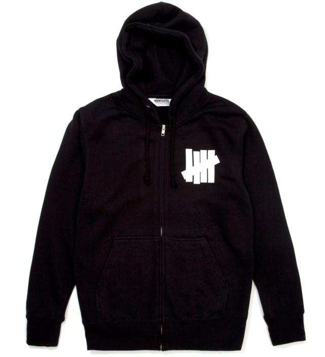 Black 5 Strike Zip Hoodie