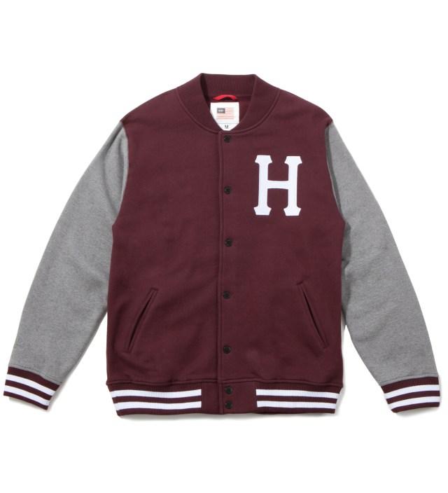 Burgundy Classic H Varsity Jacket