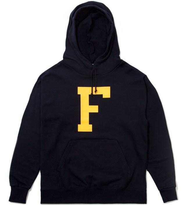 """Navy Big """"F"""" Hoodie"""