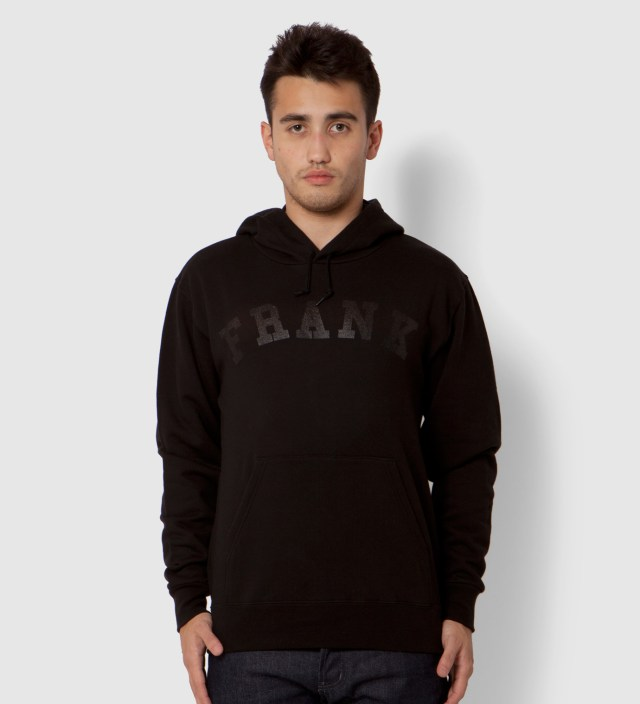 Black Frank Arch Logo Hoodie