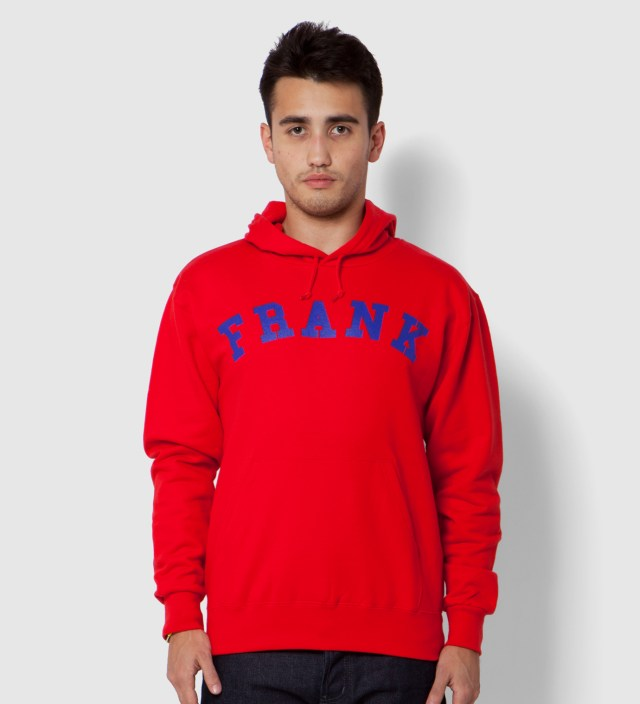 Red Frank Arch Logo Hoodie