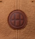 Tan Milton Wool & Leather Circle H 6 Panel Cap
