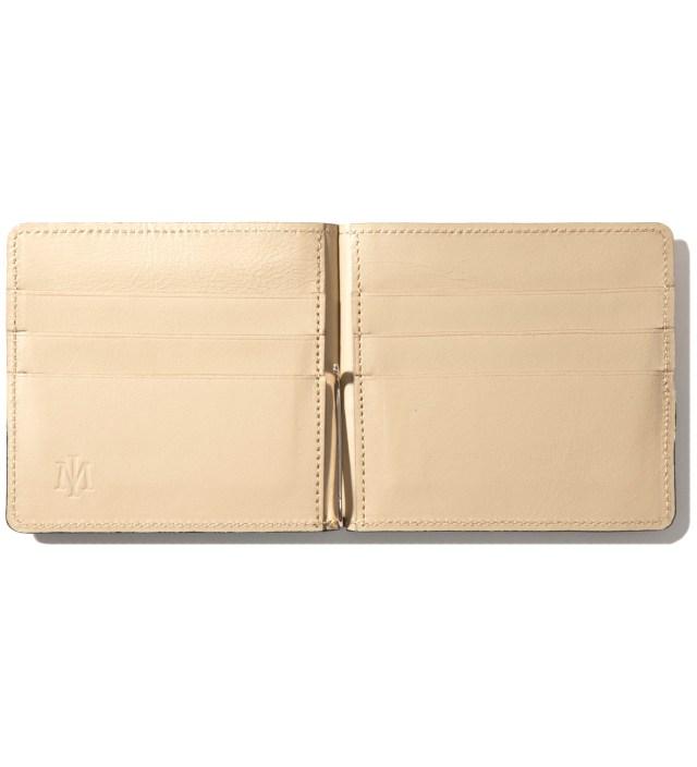 Beige/Navy Card Case & Money Clip