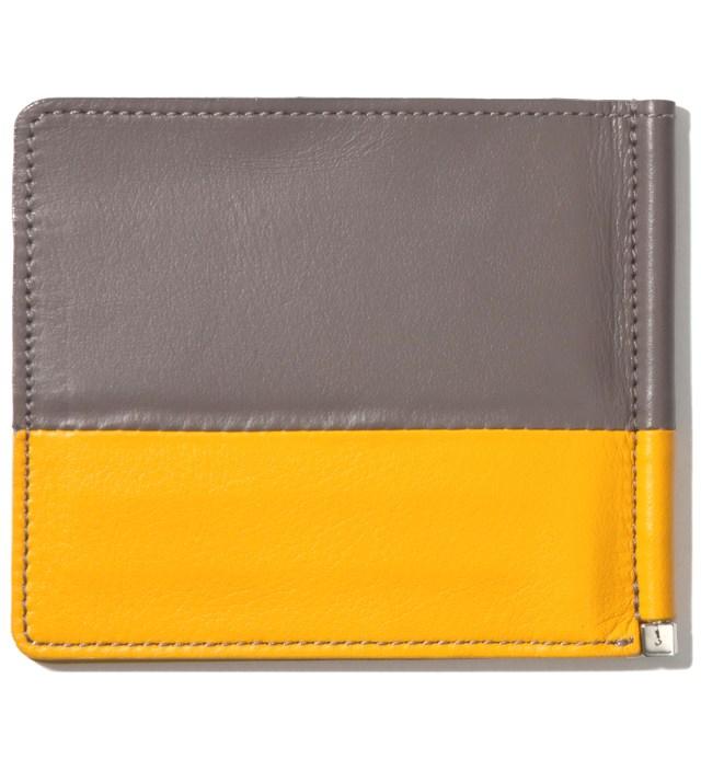 Gray/Yellow Card Case & Money Clip