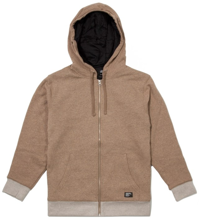Brown Heather Training Day Zip Up