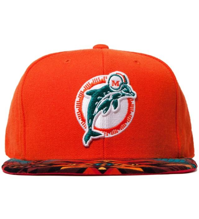 Miami Dolphins Teal Navajo Strap-Back Cap