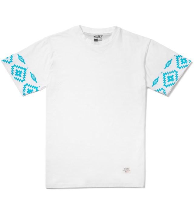 White/Turquoise Print Mr. Native Immediate T-Shirt
