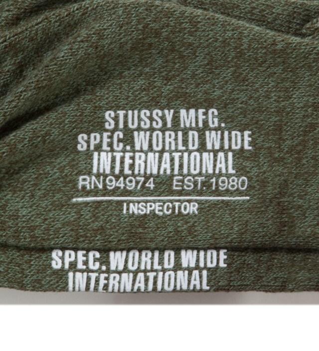Olive Inspector Crew Socks